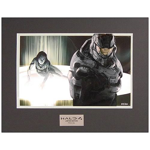 Halo 4 Master Chief and Cortana in Peril Pix-Cel Art Print
