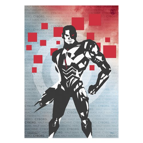 Justice League Cyborg Words MightyPrint Wall Art