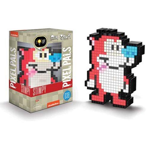 Pixel Pals Ren & Stimpy Stimpy Collectible Lighted Figure