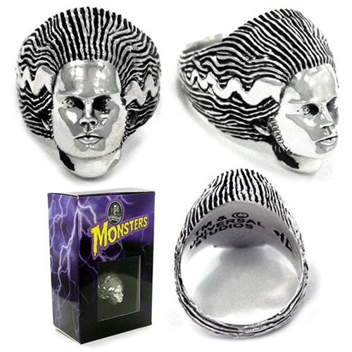 Universal Monsters Bride of Frankenstein Sterling Ring