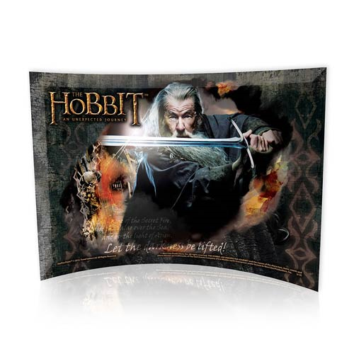 Hobbit An Unexpected Journey Gandalf Curved Glass StarFire Print