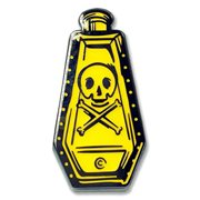 Ars Moriendi Yellow Poison Bottle Enamel Pin