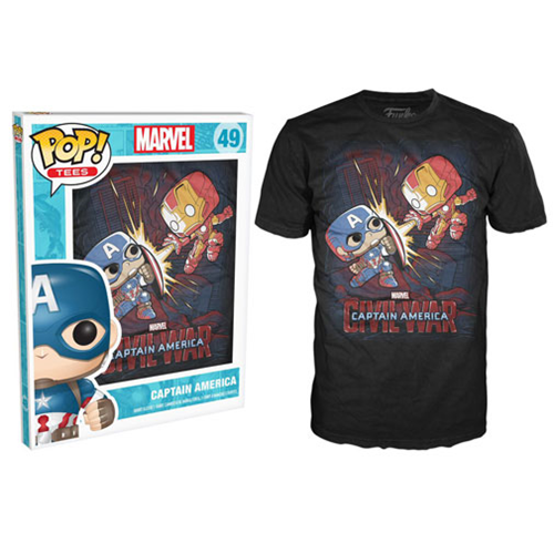Marvel Civil War Black Pop! T-Shirt