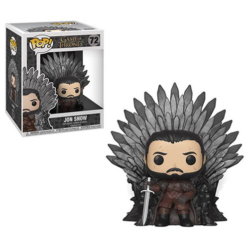 Game of Thrones Jon Snow Sitting on Throne Deluxe Pop! Vinyl Figure