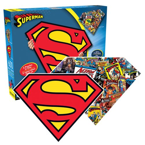 Superman Logo 2 Sided Shaped Puzzle