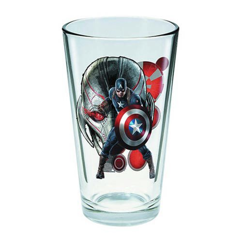 Avengers: Age of Ultron Captain America Toon Tumbler Pint Glass