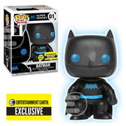 Justice League Batman Silhouette Glow-in-the-Dark Pop! Vinyl Figure - Entertainment Earth Exclusive