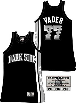 dec160013773 Star Wars Darth Vader Basketball Jersey - Entertainment Earth