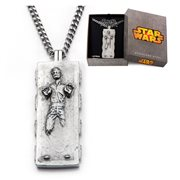 Star Wars Han Solo Carbonite Stainless Steel Pendant Necklace