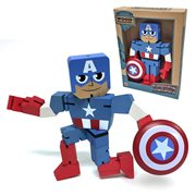 Captain America Wood Warriors Action Figure