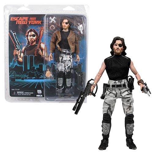 Escape from New York Snake Plissken 8-Inch Retro Clothed Action Figure