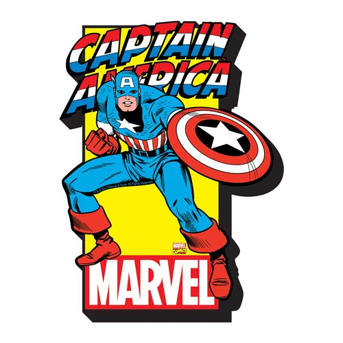 Captain America with Logo Funky Chunky Magnet