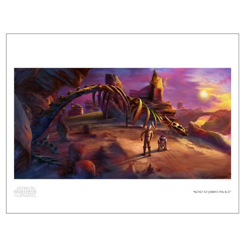Star Wars Road to Jabba's Palace Paper Giclee Print