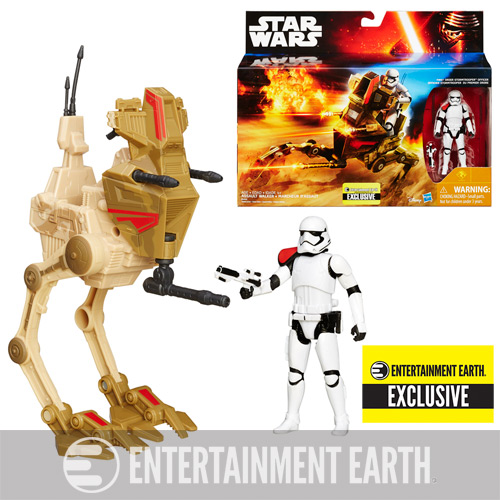 Star Wars: The Force Awakens Desert Assault Walker with First Order Stormtrooper Officer - Entertainment Earth Exclusive