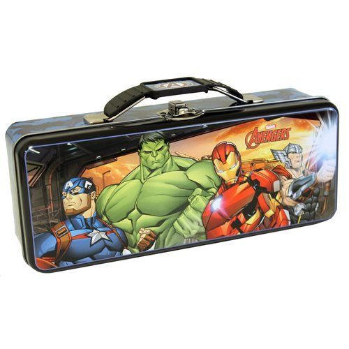 Avengers Tin Tote Carry All Box with Handle