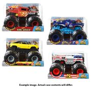 Hot Wheels Monster Trucks 1:24 Scale Mix 5 Vehicle Case