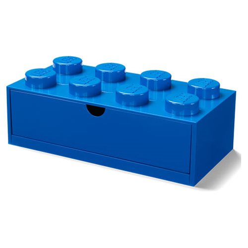 LEGO Blue Desk Drawer 8 Storage Box