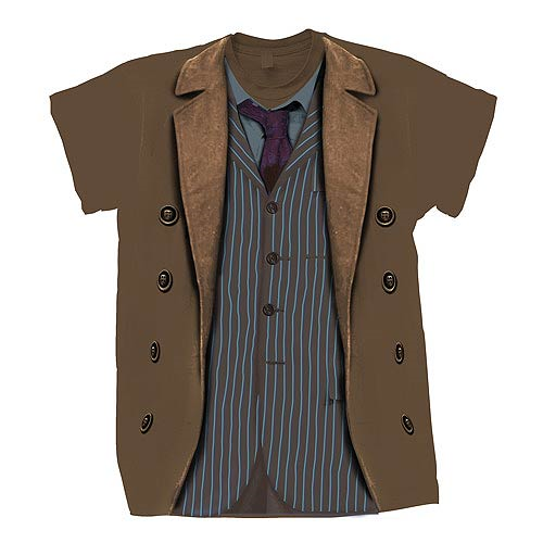 Doctor Who 10th Doctor Sound of Drums Costume T-Shirt