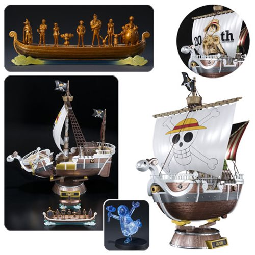One Piece Going Merry 20th Anniversary Premium Metallic Color Ver. Chogokin Statue