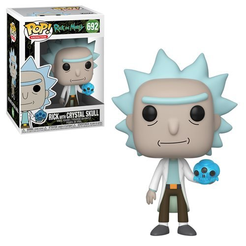 Rick and Morty Rick With Crystal Skull Pop! Vinyl Figure