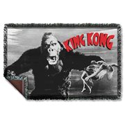 King Kong Kong and Ann Woven Tapestry Throw Blanket
