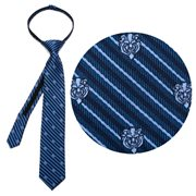 Beauty and the Beast The Beast Stripe Blue Boys Zipper Silk Tie