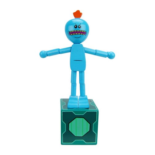 Rick and Morty Angry Mr. Meeseeks Wooden Push Puppet - Convention Exclusive