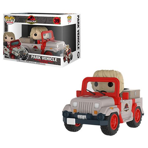 Jurassic Park Jeep with Ellie Sattler Pop! Vinyl Vehicle #39, Not Mint