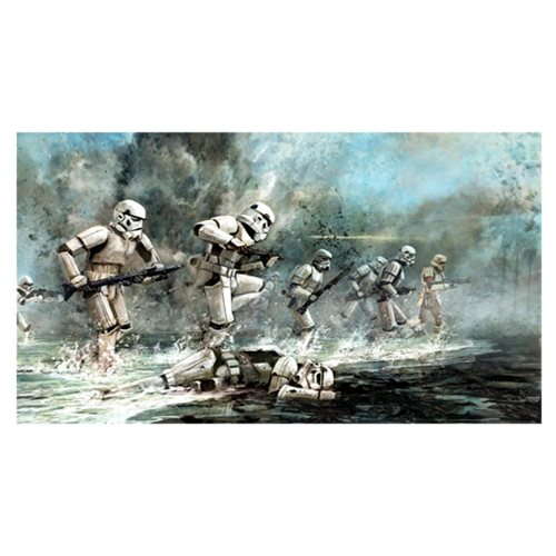 Star Wars Storming Troopers by Cliff Cramp Canvas Giclee Art Print