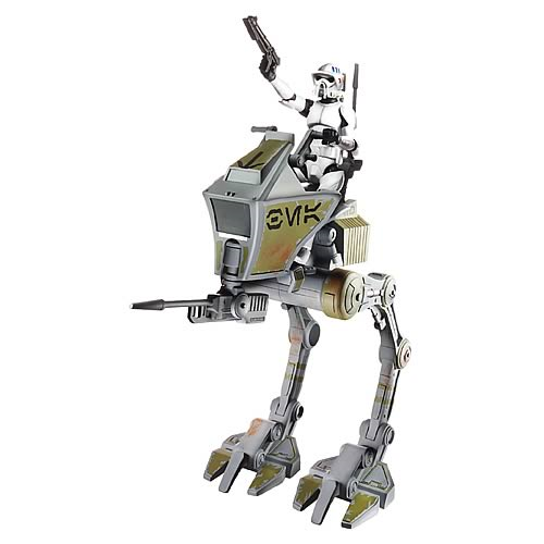 Star Wars Clone Wars Clone Trooper Scout with AT-RT Vehicle