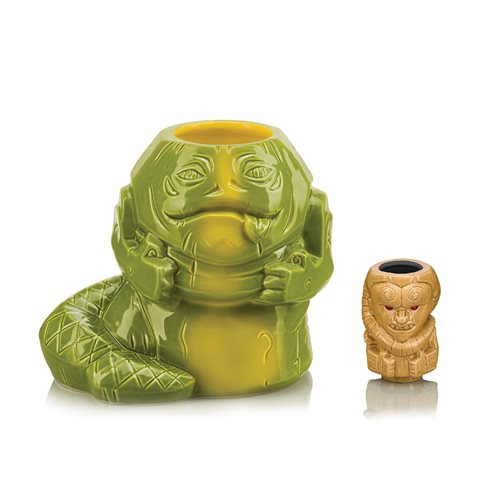 Star Wars Jabba the Hutt 40 oz. Geeki Tikis Mug with Bib Fortuna Muglet