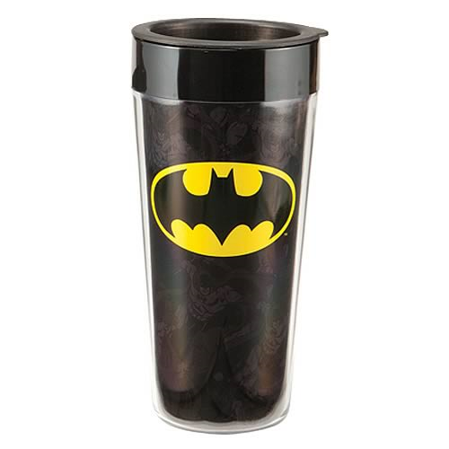 Batman Logo Plastic Travel Mug