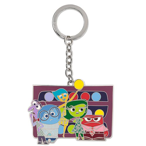 Inside Out Emotions Group 2 1/2-Inch Enamel Key Chain