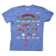 Sriracha Hot Chili Sauce On Everything 8-Bit Blue T-Shirt