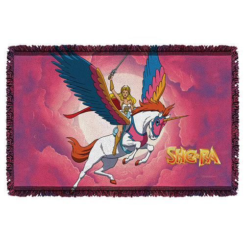 Masters of the Universe She-Ra Clouds Woven Tapestry Throw Blanket
