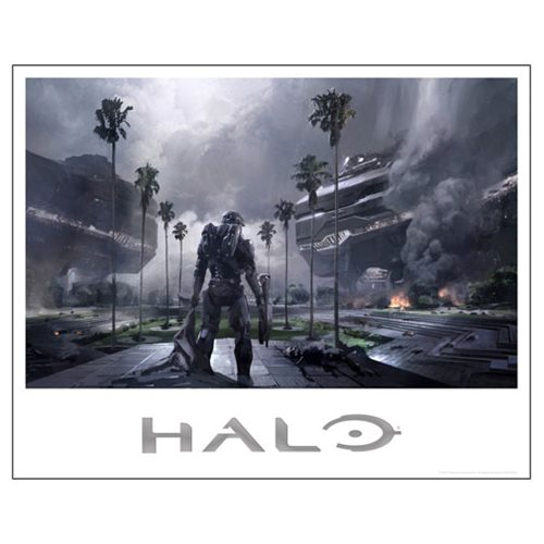Halo 5 False Dawn Foil-Stamped Lithograph