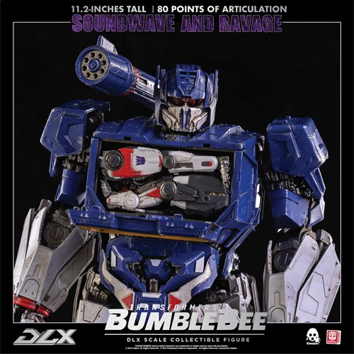 Transformers Bumblebee Soundwave and Ravage Deluxe Action Figures