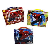 Spider-Man Large Workman Carry All Tin Tote Lunch Box Set