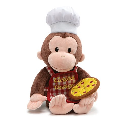 Curious George Pizza 13-Inch Plush