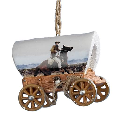 John Wayne Wagon 3-Inch Resin Ornament