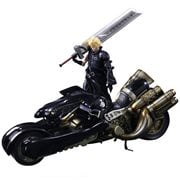 Final Fantasy VII Advent Children Cloud Strife Play Arts Kai Action Figure and Fenrir Vehicle Set