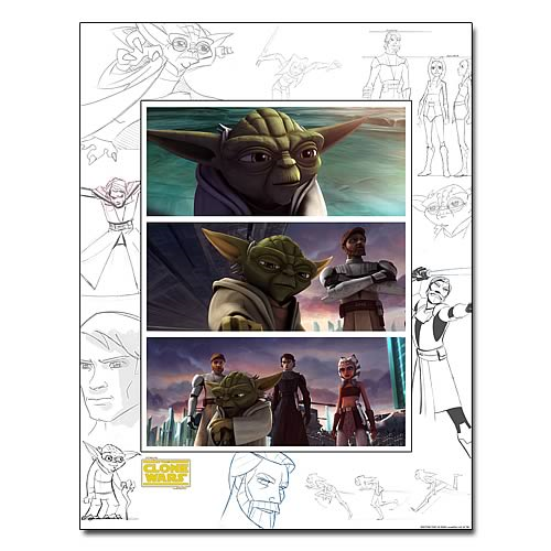 Star Wars Art of the Clone Wars United Front Giclee Print