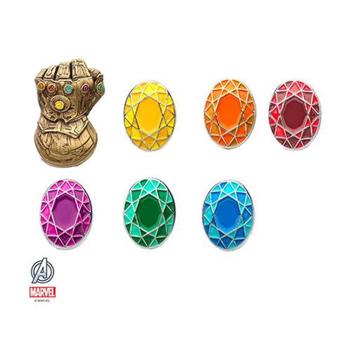 Avengers: Infinity War Gauntlet and Infinity Stones Pin Set