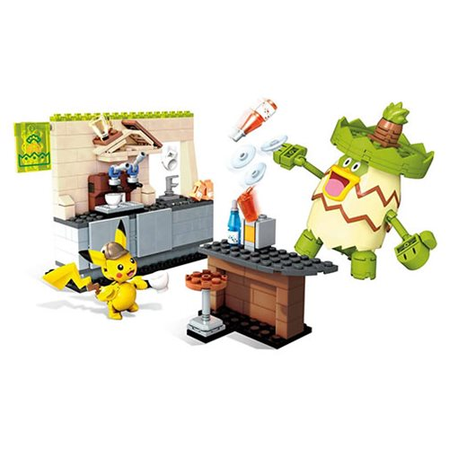 Detective Pikachu Mega Construx Hi Hat Cafe Playset, Not Mint