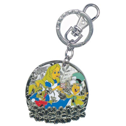 Alice in Wonderland Mad Tea Party Pewter Key Chain