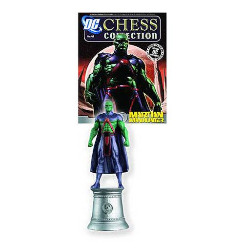 DC Superhero Martian Manhunter White Knight Chess Piece with Magazine