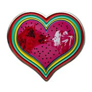 Birds of Prey Harley and Bruce Heart Pin
