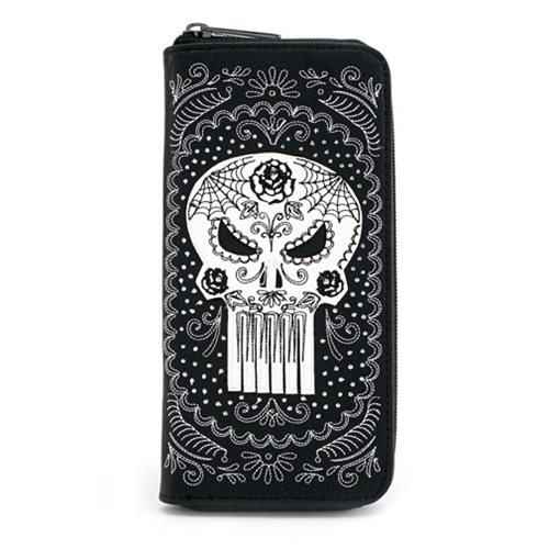 Punisher Sugar Skull Zip-Around Wallet