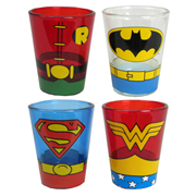 DC Comics Uniform Mini Glass 4-Pack