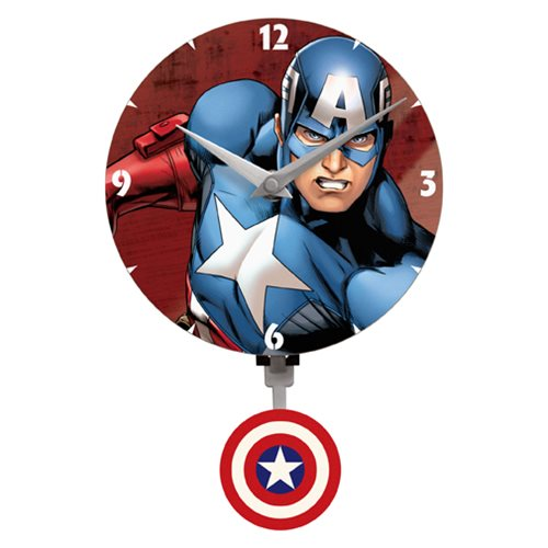Captain America Mini Motion Wall Clock
